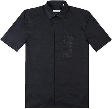 Versace colección Medusa Camisa de Bolsillo: Amazon.es: Ropa y accesorios