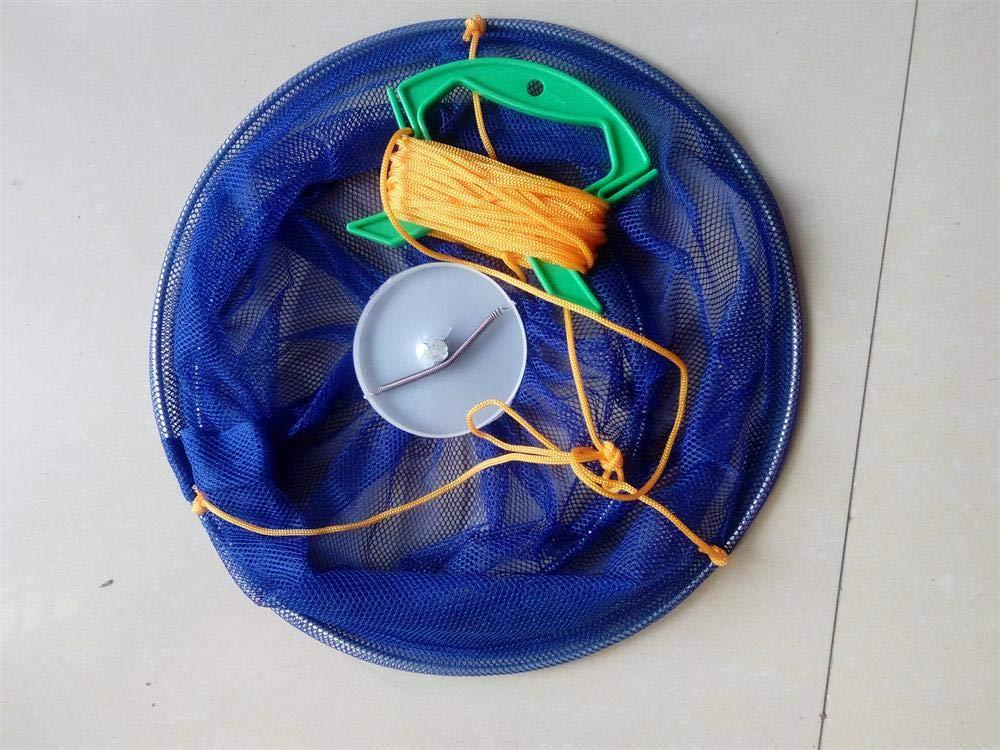 10 m Color Azul o Rosa Fishkit Ltd Red de Pesca para cangrejos