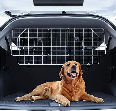 Schutzgitter mit Kopfst/ützen-Befestigung Auto Hundegitter Zum Transport f/ür deinen Hund Heldenwerk Universal Kofferraum Trenngitter f/ür Hunde Stufenlos verstellbares Kofferraumschutz Gitter