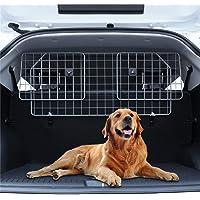 Pujuas - Rejilla de protección para Maletero, Rejilla de separación para Perros, Ajustable, Rejilla de protección para el reposacabezas (V1)
