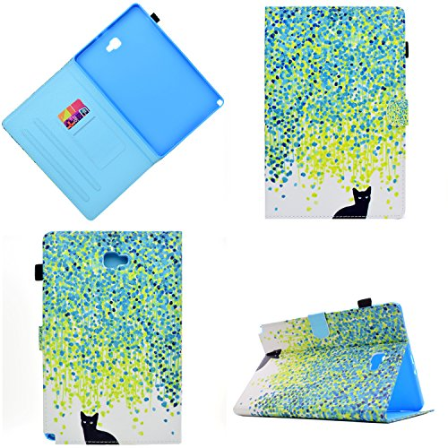 LittleMax(TM) Samsung Galaxy Tab A 10.1 with S Pen Case - Ultra Slim Smart Shell Stand Cover with Auto Sleep / Wake for Samsung Tab A 10.1 inch (S Pen Version SM-P580/SM-P585)-02 Cat in Rain (Pen 02)