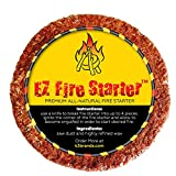 EZ Fire Starter All-Natural Chemical Free Fire Starters -Two Simple Ingredients Used to Create the Perfect Fire Every Time - Perfect for Fire Places Stoves Camp Fires Barbecues Camping & Survival Kits