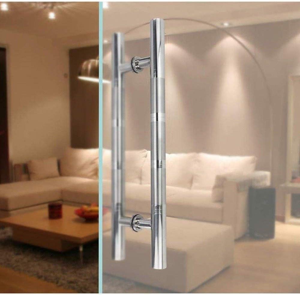 Manija de la puerta Manija de la puerta, 201 acero inoxidable Comercial push-pull sola manija de puerta, se puede instalar en la puerta de cristal / Puerta de madera, (Tamaño: 80 x
