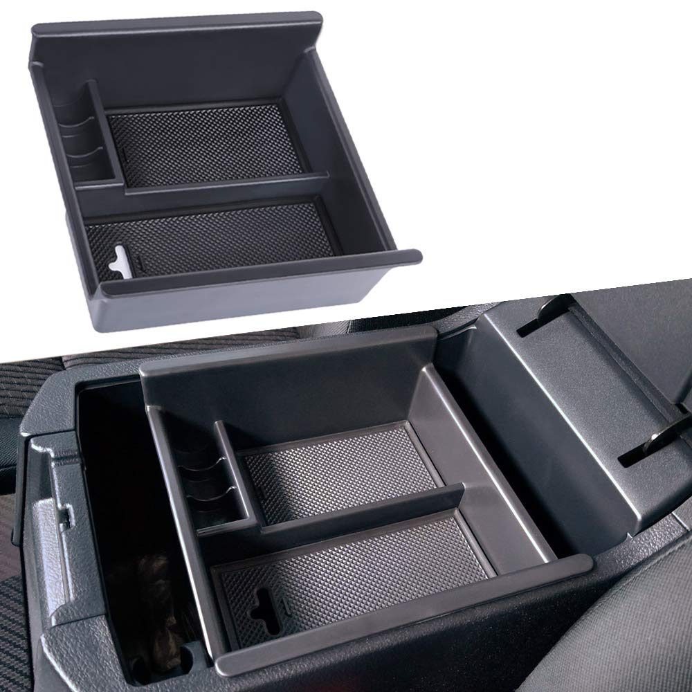 JDMCAR Compatible for 2009-2018 Dodge RAM 1500//2500 3500 Trucks Lower Center Console Organizer Insert ABS Black Materials Tray Armrest Box Secondary Storage Full Console w//Bucket Seats ONLY