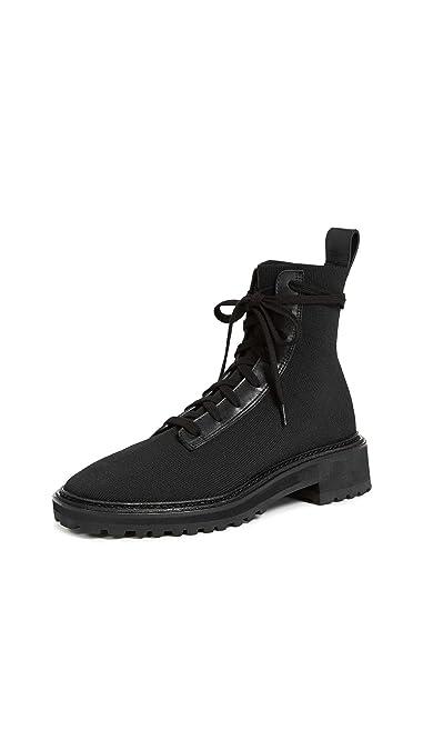 df36d2ea5759 Loeffler Randall Women s Brady Stretch Knit Combat Boots