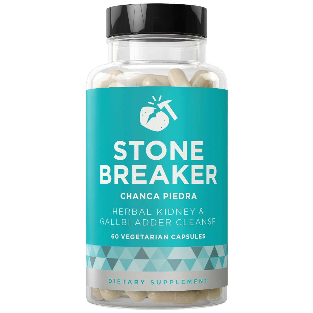 STONE BREAKER Chanca Piedra - Kidney and Gallbladder Detoxifying Cleanse - Chronic Pain, Nausea, Frequent Urination - Hydrangea & Celery Seed - 60 Vegetarian Soft Capsules