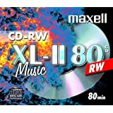 10 X MAXELL DIGITAL AUDIO CD-RW MUSIC CD'S REWRITABLE