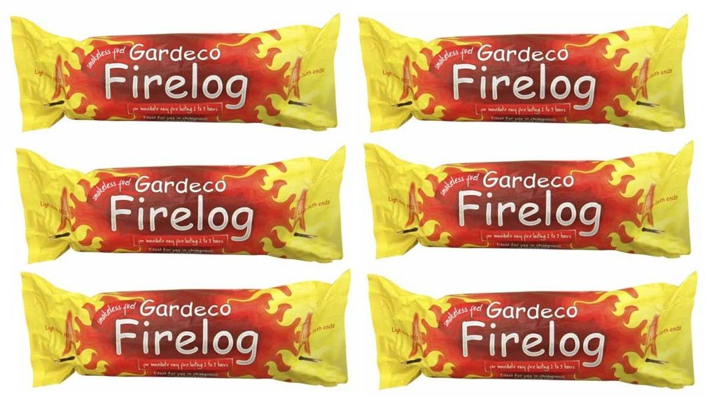 Gardeco FIRELOGS Instant Light Pack of 6 Logs