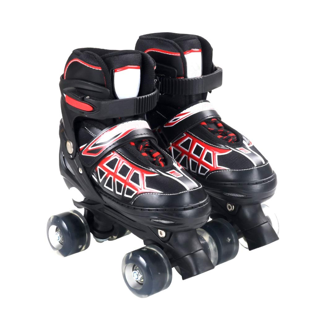 LXP インラインスケート アダルト初心者の子供の二列スケート、プロの調整可能なフラッシュローラーシューズ、反衝突衝撃吸収、2色 高構成プロスケート靴 (色 : 赤, サイズ さいず : EU 39/US 7/UK 6/JP 24.5cm) B07QNB3VHS EU 38/US 6/UK 5/JP 24cm|赤 赤 EU 38/US 6/UK 5/JP 24cm