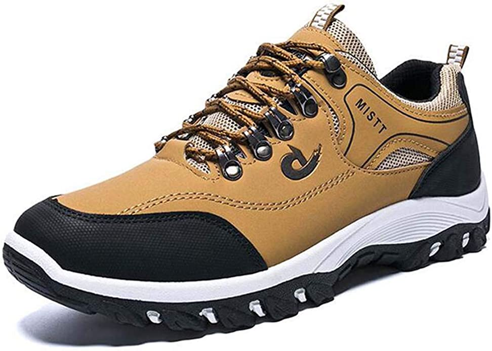 New Spring and Autumn Man Sports Shoes Casual Wearable Hiking Sneakers Male Non-Slip Running Quality Leather Shoes: Amazon.es: Zapatos y complementos
