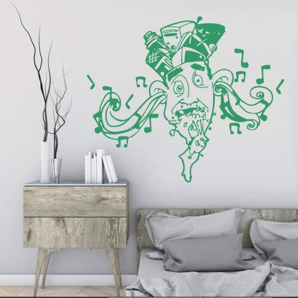 Geiqianjiumai Hombre Creativo con Sombrero Nota Etiqueta de la Pared hogar decoración de Estilo Moderno Calidad de Moda Cartel de Pared Verde 57x70 cm
