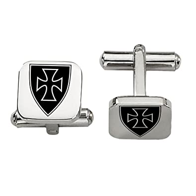Sigma Chi Symbol Cufflinks Rounded Square Style Stainless Steel