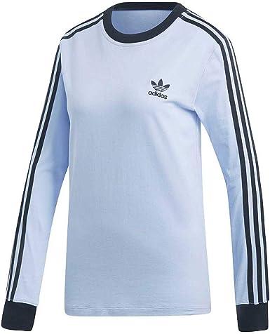 adidas 3 Stripes LS Camiseta, Mujer: Amazon.es: Ropa y accesorios