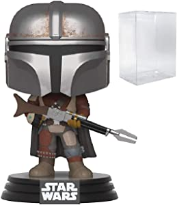 Star Wars: The Mandalorian - Mandalorian Pop! Vinyl Figure (Includes Compatible Pop Box Protector Case)