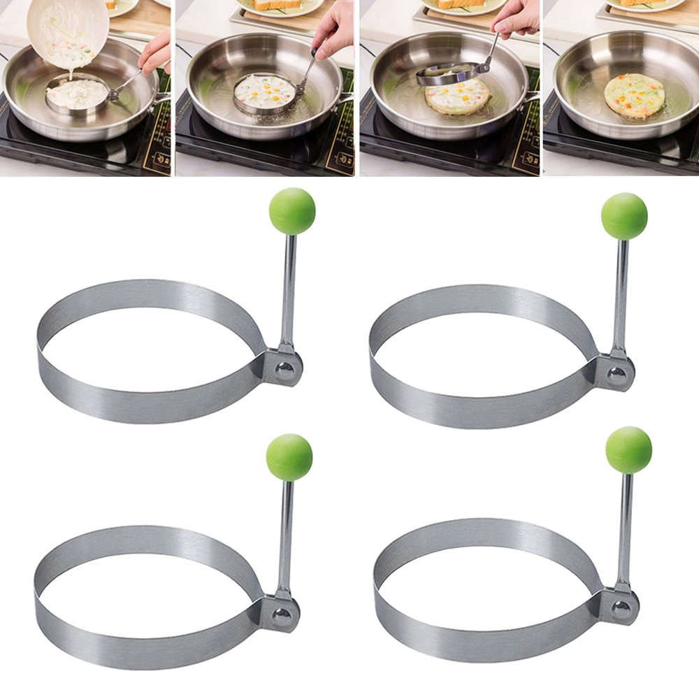 Egg Mould for Frying Non-Stick Egg Ring Pancake Kitchen Tool Fried Pancake Omelets Mold Rings (1pc flower) New_Soul