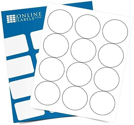 60 individual circles The Chick Inn 2.5 Inch Diameter Circle Labels