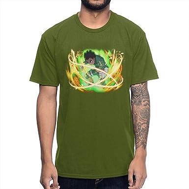 TSHIMEN Camisetas Hombre Inside Naruto 2019 Anime Cool Man Camiseta Calidad impresión algodón Unisex Camiseta Cuello Redondo Verde Oscuro: Amazon.es: Ropa y accesorios