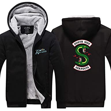 Riverdale Hoodies TV Southside Serpents Chaqueta Fleece Winter Hoodie (Negro, S): Amazon.es: Ropa y accesorios