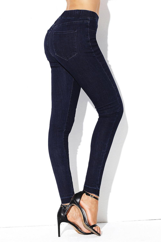 La Vogue Women Elastic Waist Jeans Stretch Jeggings
