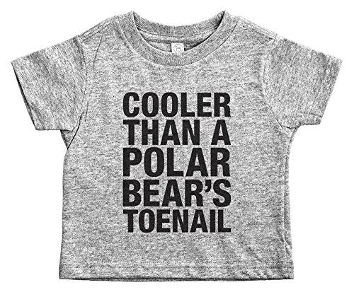 Baffle® Outkast Toddler Tee/Polar Bears TOENAIL/90's Rap Toddler Shirt (5/6T, Grey) -