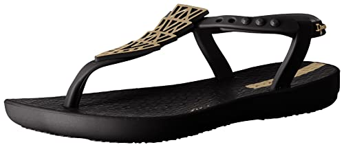 Ipanema Girls' Deco Sandal, Black, 11/12 M US Little Kid