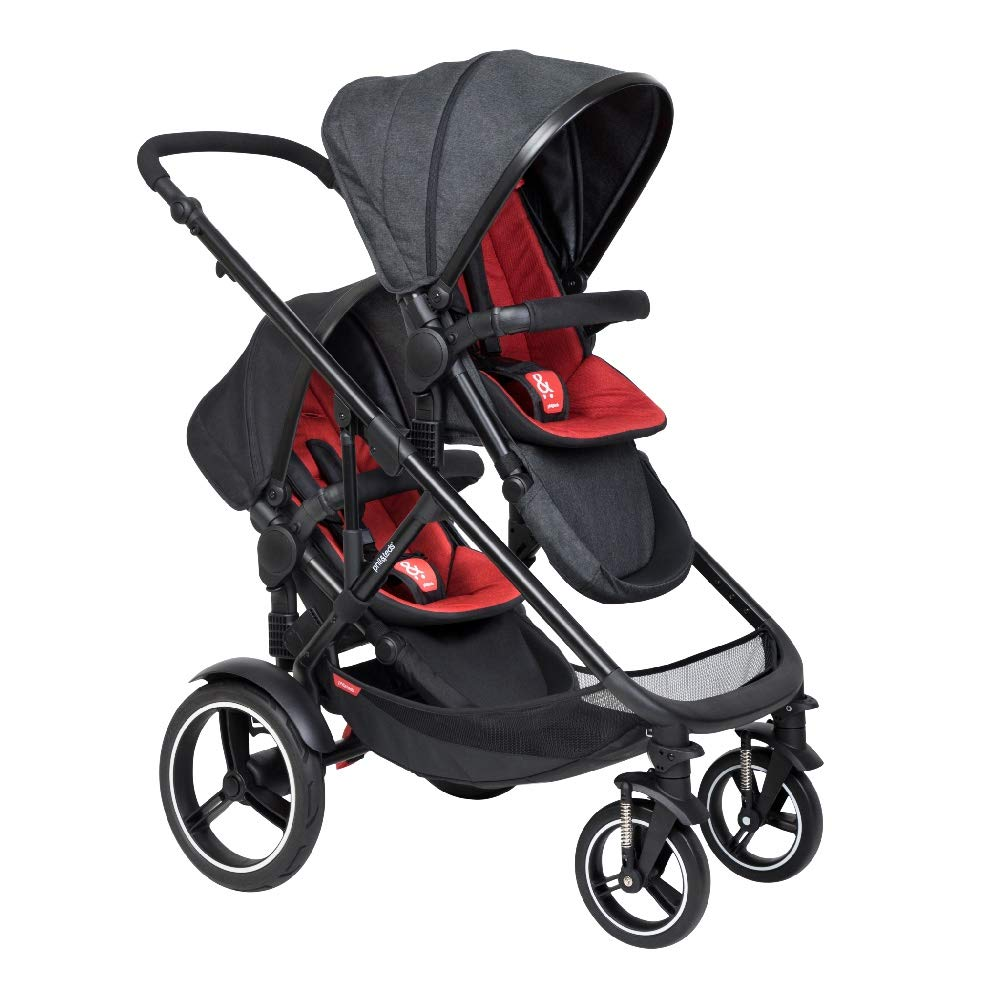Phil & Teds Voyager Buggy with Doubles Kit (Chili) by phil&teds