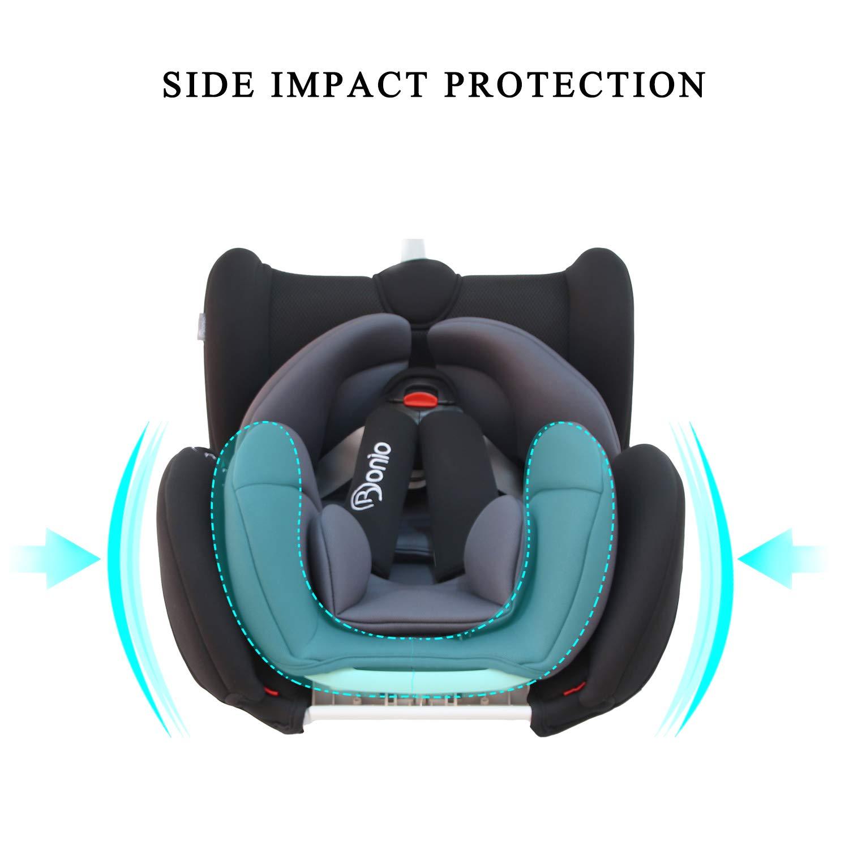 4 Sitzund Schlafpositionen Rot Kinderautositz Gruppe 1 2 3 Bonio Kindersitz 9-36 kg Verstellbare Kopfst/ütze mit ISOFIX Autositz ab 9 Monate bis 12 Jahre