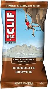 CLIF BAR Chocolate Brownie - 12 x 68g, 816 g, Chocolate Brownie, 2.4 Ounce (160006)