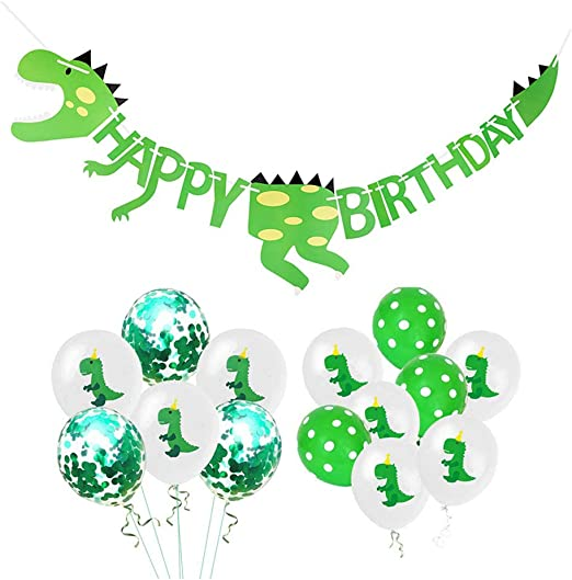 Dinosaurio Happy Birthday Pancarta y Latex Globos Fiesta ...