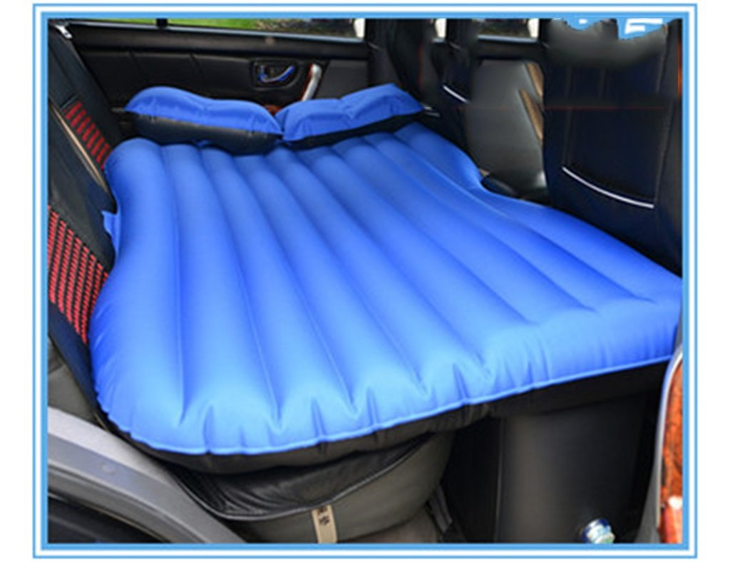 車の旅インフレータブルマットレスキャンプエアベッドプレミアムクイーンサイズダブル拡張ソファーユニバーサルブラックブルー ( 色 : 青 , サイズ さいず : Without protection ) B07BLVVM8T Without protection 青 青 Without protection