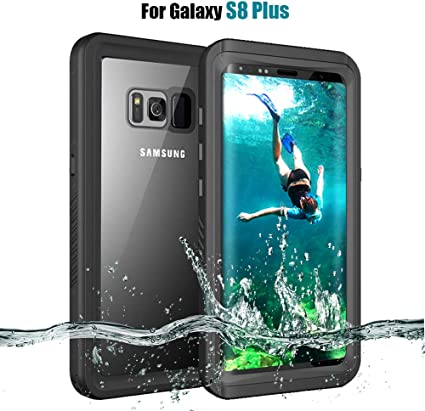 MIZUSUPI Samsung Galaxy S8 Plus Waterproof Case IP68 Certificated Shockproof Snowproof DustProof Full Body Protective with Kick Stand,Waterproof Test Paper and Floating Strap