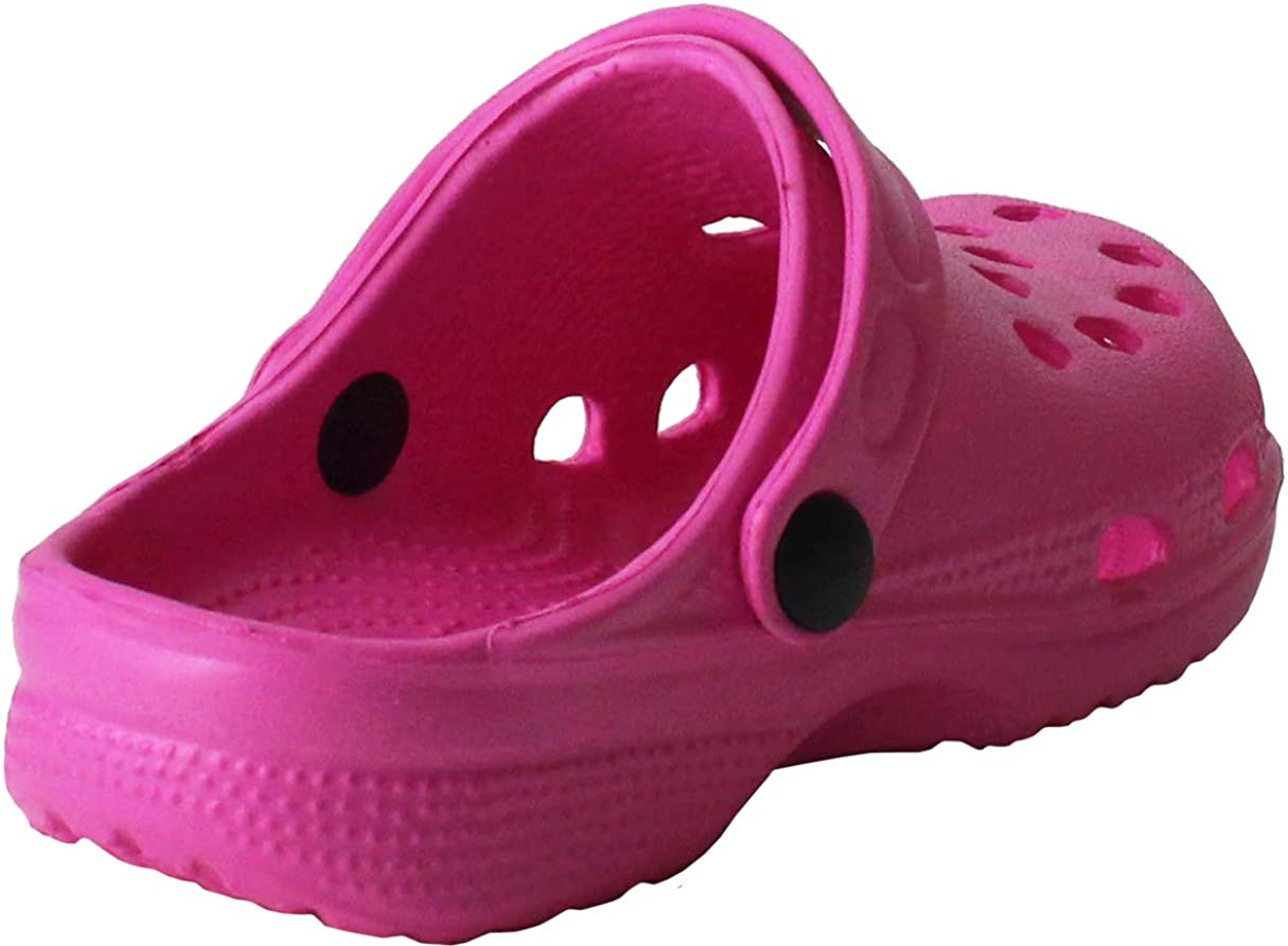 Childrens Kids Girls Boys Holiday Summer Beach Pool Clogs Sandals Shoes Size 6-2