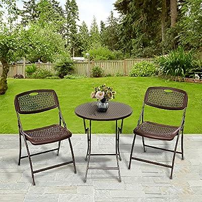amazon com le papillon 3pc bistro set folding round table and chair rh amazon com Outdoor Table and Chairs 2 Outdoor Table and Chairs 2