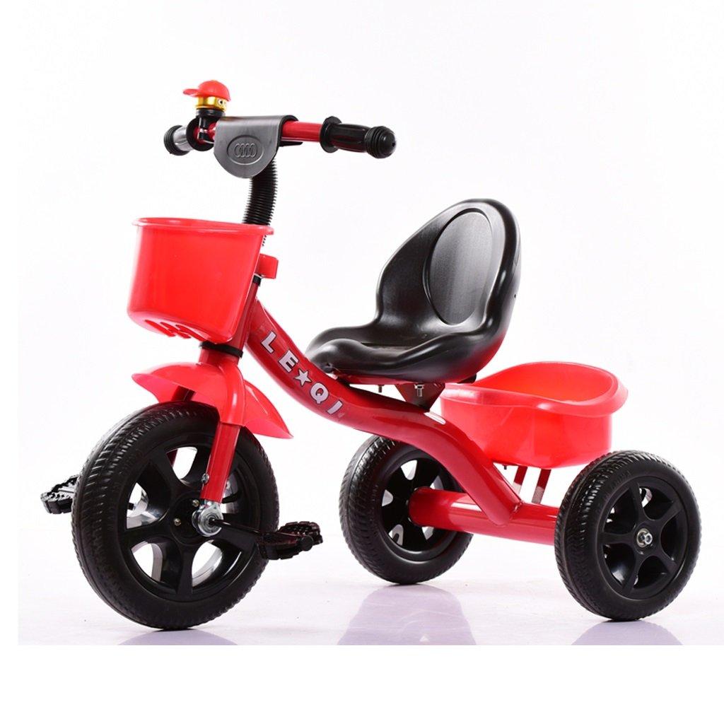 Kinder Dreirad Mini Bike einfach Indoor Outdoor 2-6 Jahre alt Legierung rot Fahrrad