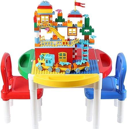 Mesa de Juego Mesa De Juegos para Niños Mesa De Construcción Multifunción Juguetes De Costura Juguetes Educativos Juguetes para Niños Y Niñas Mejores Regalos (Color : Color, Size : 62 * 62 * 47cm): Amazon.es: Hogar