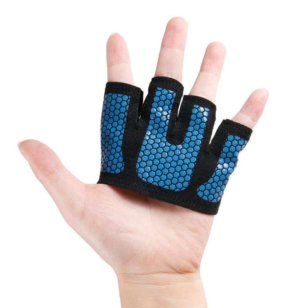 aa35a09a46cedd CHIC-CHIC 1 Paar Fitness Handschuhe vier Fingern Männer Frauen Halbfinger  Top Grip für Gewichtheben Reiten Radfahren Übung Tarining: Amazon.de: Sport  & ...