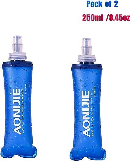 TPU Sport Soft Water Bottle Folding Flask For Running Hiking Cycling Marathon
