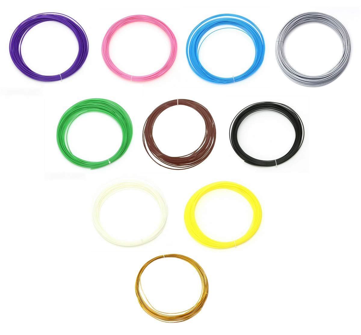 50 metros - filamento abs 1.75 mm - en 10 colores - 5 metros cada ...