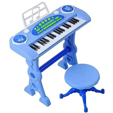 DUWEN Teclado para niños Piano Instrumentos para la primera infancia Bebés y niños pequeños Micrófono combinado