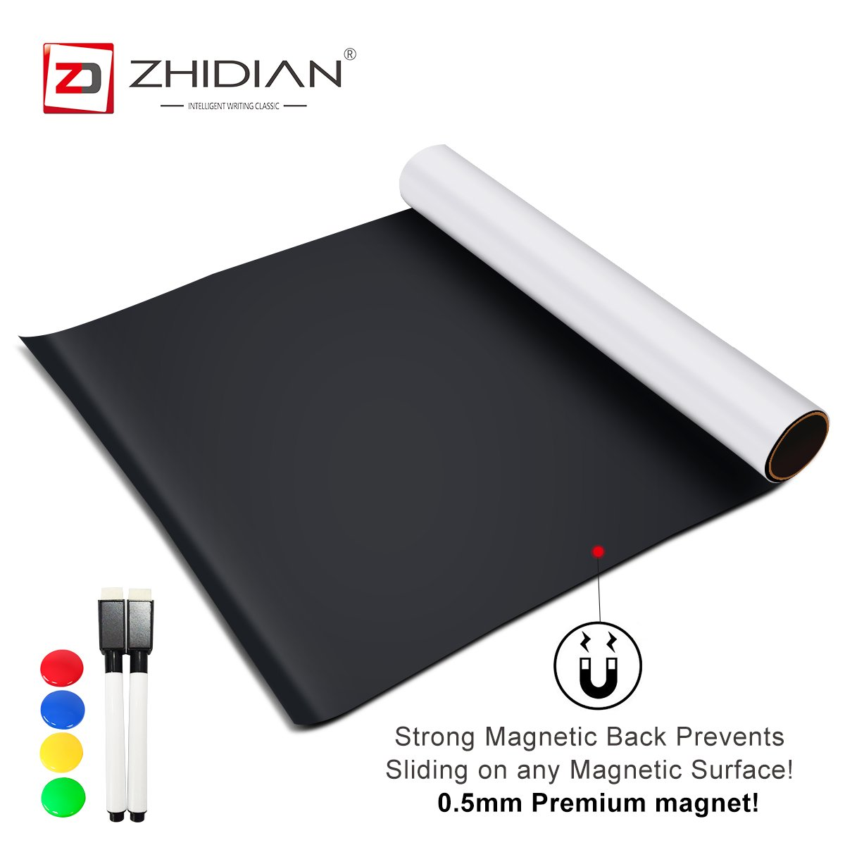 ZHIDIAN Magnetic White Boards Dry Erase Boards Wall Stickers 36×48 Inches There are Adhesive on The Backs Easy to Install