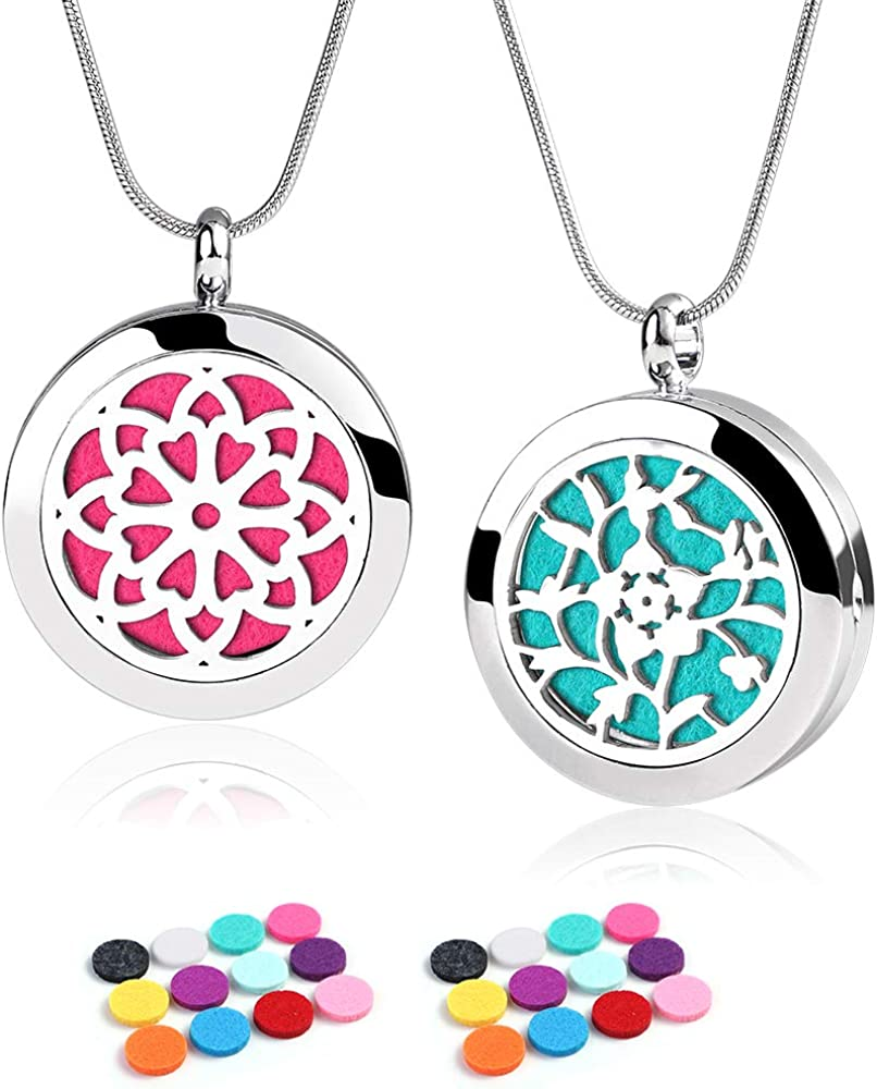 Stainless Steel Locket /& 10 x Colour Pads Owl Essential Oil Diffuser Aromatherapy Necklace Gift Set Girls Women Jewellery Birthday