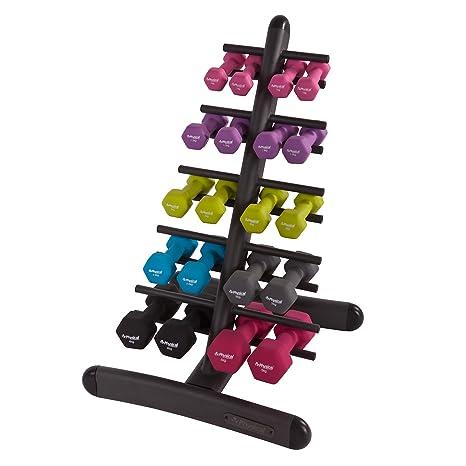 Empresa física dummbbell almacenamiento 10 pares de estante con estatus blitzingroup mancuernas hexagonales - pesos,