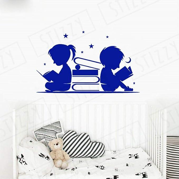 xingbuxin Tatuajes de Pared Niños y niñas Libros de Lectura ...