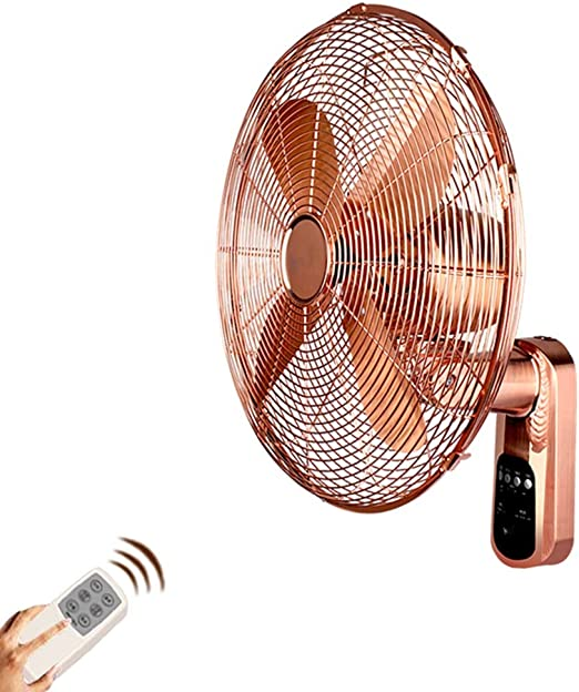 ZZHFS Ventilador Ventilador de Pared - Metal Control Remoto ...