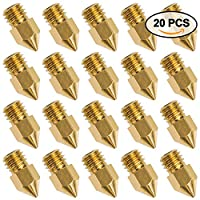 20 PCS 3D Printer Nozzle 0.4mm MK8 Extruder Head for Creality Cr10 from Petutu