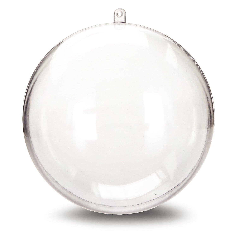 Amazon: Darice 110589 Plastic Ball Ornament, 140mm, Clear: Home &  Kitchen