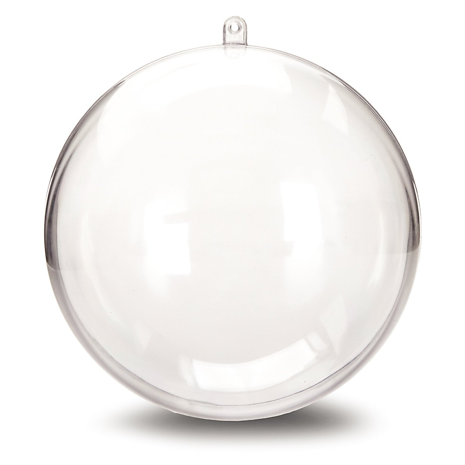 Darice 1105-89 Plastic Ball Ornament, 140mm, Clear - Pack of 12