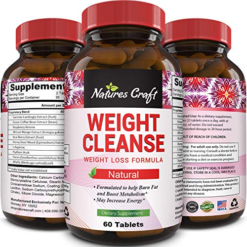 Natural Garcinia Cambogia Weight Loss HCA - Women and Men Pure Green Coffee Bean appetite suppressant Control Supplements Green Tea EGCG Energy Workout Boost - Detox Cleanse Supplement Biosense