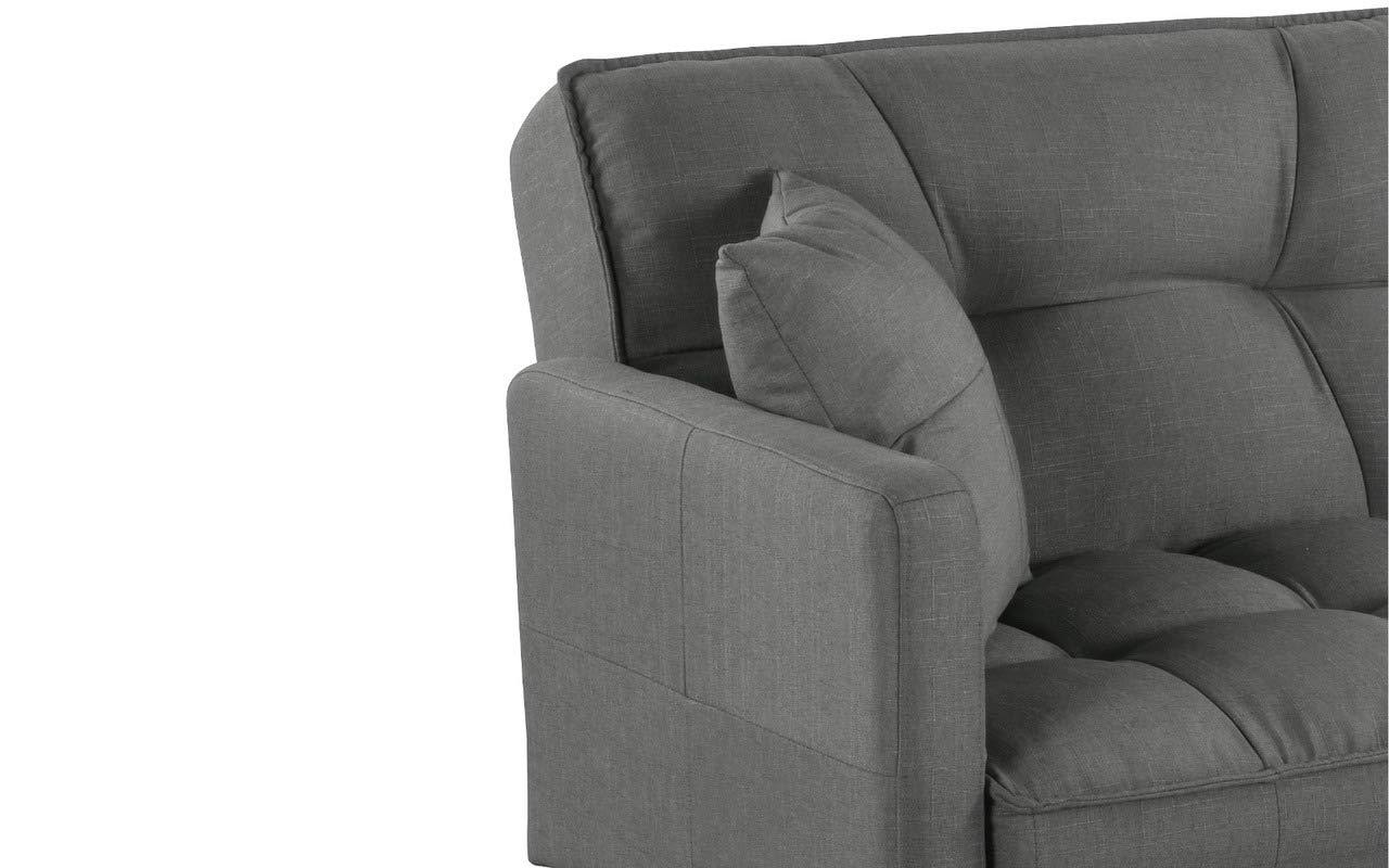 Coloris Gris fonc/é Tissu Canap/é dangle Convertible Design BHDesign Ashley XL