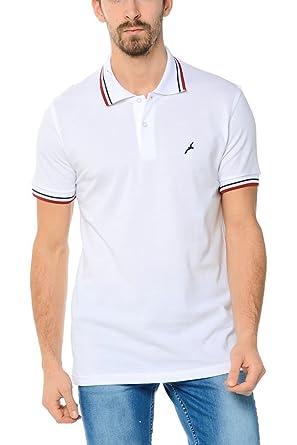 Dewberry Man Polo T Shirt With Bird Logo Xl White Amazon Co Uk